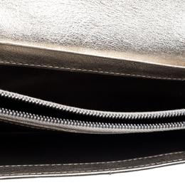 Celine Metallic Gold Leather Flap Continental Wallet 395645