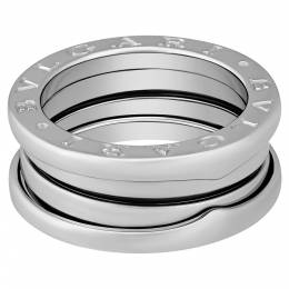 Bvlgari 18K White Gold 3 Band B.Zero1 Ring Size EU 50 395970