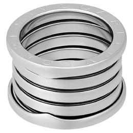 Bvlgari 18K White Gold B.Zero1 5 Band Ring Size EU 51 395958