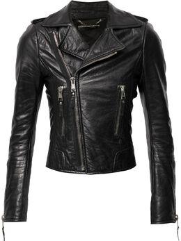 Balenciaga Pre-Owned байкерская куртка с манжетами на молнии WW13343BCJCK