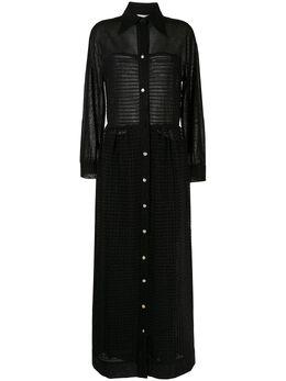 Lanvin Pre-Owned полупрозрачное платье-рубашка WW12533BCGDRS