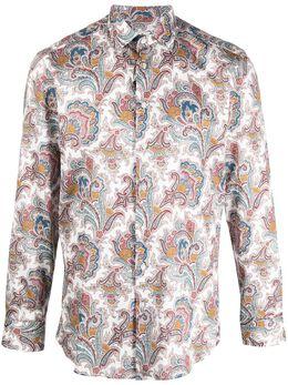 Etro рубашка с длинными рукавами и принтом пейсли 129084733