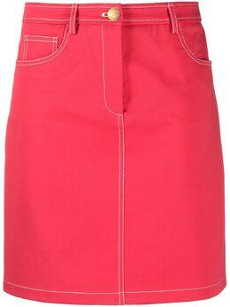 Boutique Moschino джинсовая юбка с завышенной талией A01011120