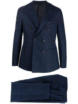 Eleventy костюм-двойка с двубортным пиджаком C70ABUB01TES0A043