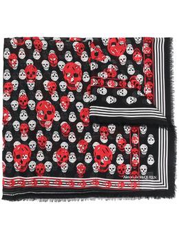 Alexander McQueen шарф с вышивкой Skull 6571813418Q