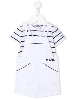 Karl Lagerfeld Kids комплект из комбинезона и футболки в полоску Z98083