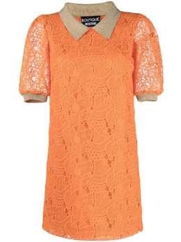 Boutique Moschino кружевное платье-трапеция длины мини A04150833