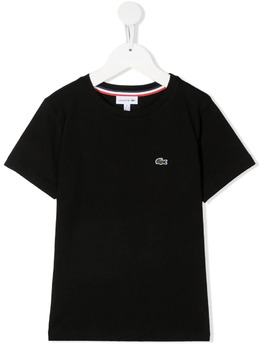 Lacoste Kids футболка с вышитым логотипом TJ1442