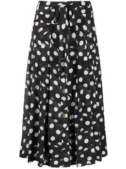 Boutique Moschino юбка миди в горох A01111158