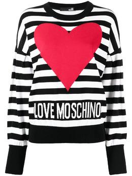Love Moschino полосатый джемпер с логотипом WS63G10X1404