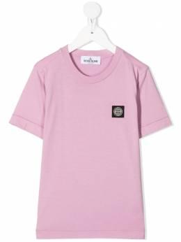 Stone Island Junior футболка с нашивкой 741620147