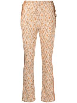 Alberta Ferretti укороченные брюки Hibiscus A03070143