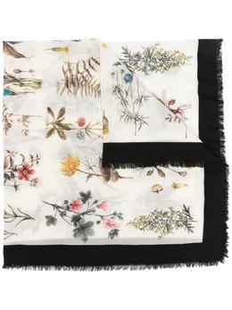Salvatore Ferragamo floral-print frayed-edge scarf 744440