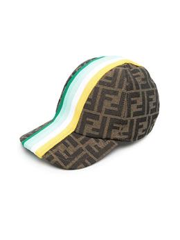 Fendi Kids FF-logo striped cap JUP004AF11