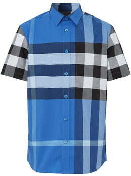 Burberry oversized check buttoned shirt 8038660