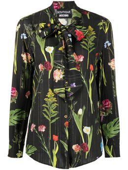 Boutique Moschino рубашка с длинными рукавами и завязками A02031154