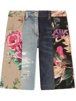 Dolce & Gabbana Kids джинсовые шорты с цветочным принтом L52F25G7YPQ