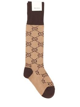 Носки Из Хлопкового Жаккарда Gucci 73IFQS025-OTc2NA2