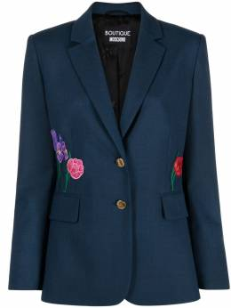 Boutique Moschino floral-embroidered jacket A05051117