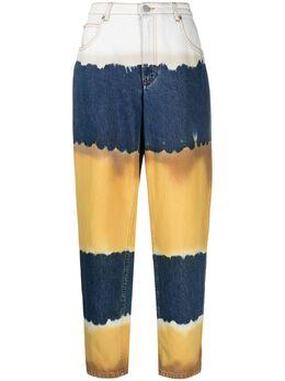 Alberta Ferretti джинсы в стиле колор-блок с завышенной талией J03300182