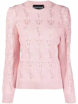 Boutique Moschino floral-knit jumper A09391102