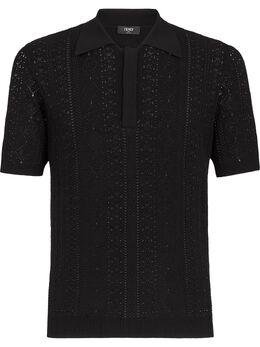 Fendi macramé short-sleeve polo shirt FZC471AEK9