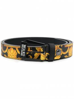 Versace Jeans Couture baroque-print leather belt D8YWAF0371880