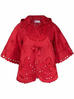 Red Valentino floral embroidery hooded jacket VR0CI01I5T3