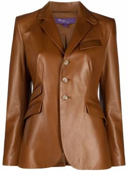 Ralph Lauren Collection fitted single-breasted leather jacket 290815804001