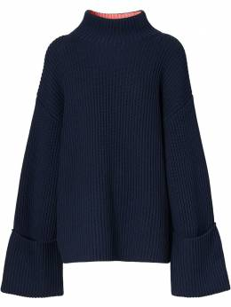 Burberry ribbed-knit bell-sleeve jumper 8039172