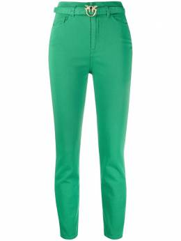 Pinko logo-buckle skinny jeans 1J10KNY62NX08