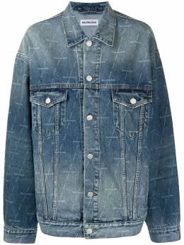 Balenciaga джинсовая куртка с логотипом 625993TJW53