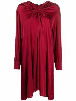 Isabel Marant платье со сборками и длинными рукавами RO193421P025I