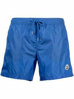 Moncler плавки-шорты с кулиской и нашивкой-логотипом G10912C7080053326
