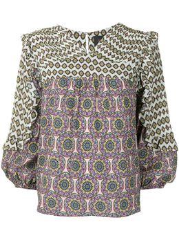 Nicole Miller блузка с длинными рукавами и абстрактным принтом CT18883