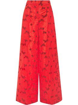 Oscar De La Renta кружевные брюки широкого кроя 21RN3032FEBSCL