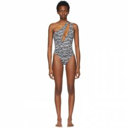 Solid And Striped Black and White Zebra The Issi One-Piece Swimsuit SP21-182ZJ-S