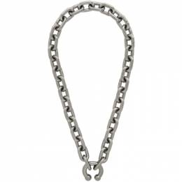 Random Identities Silver P.A. Chain Necklace A-02