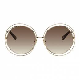 Chloe Gold Carlina Round Sunglasses CH0045S