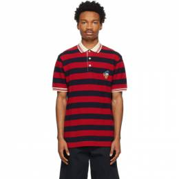 Gucci Red and Navy Disney Edition Striped Donald Duck Polo 645260 XJC8J