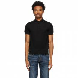 Tom Ford Black Pique Polo BWD96-TFKC33