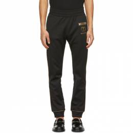 Moschino Black and Gold Double Question Mark Lounge Pants 0379 2029