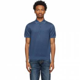 Tom Ford Blue Pique Polo BWD96-TFKC33