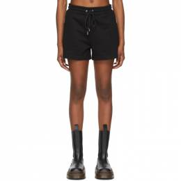 Dion Lee Black Terry Boxer Shorts A2262S21
