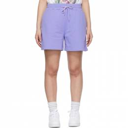 MSGM Purple Sweat Shorts 3041MDB60 217299