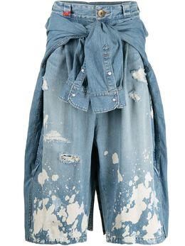 Maison Mihara Yasuhiro укороченные многослойные брюки A06PT024