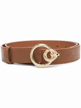 Pinko double ring-buckle leather belt 1H20VGY72XL58