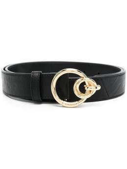 Pinko double ring-buckle leather belt 1H20VGY72XZ99