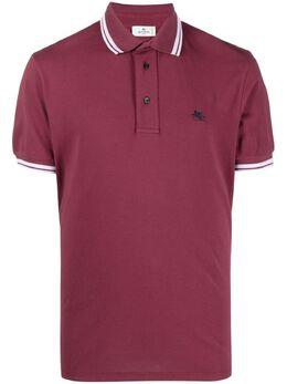 Etro рубашка поло с вышитым логотипом 1Y8009982
