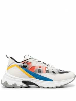 MSGM panelled low-top sneakers 3040MS4052036